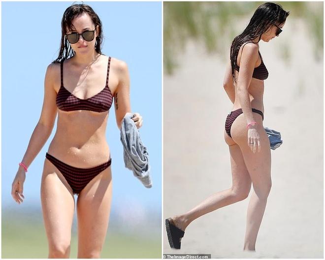 Dakota Johnson dien bikini,  khoe dang nong bong anh 3