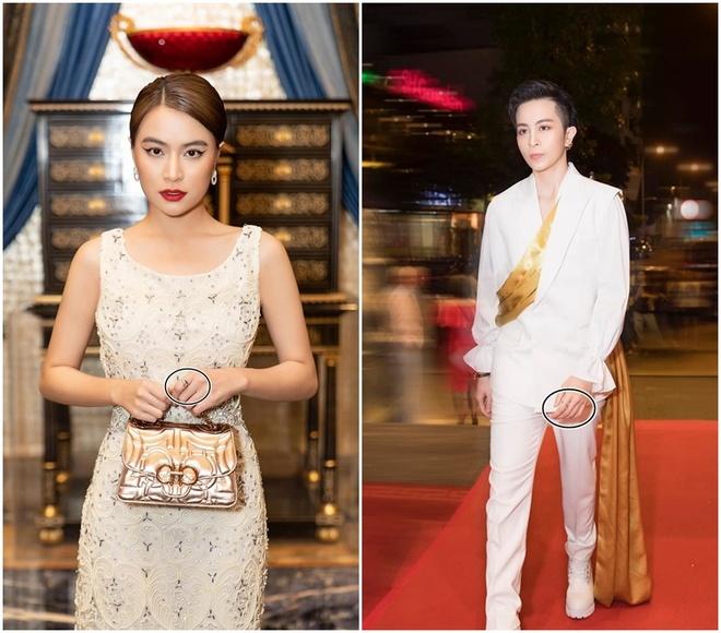 Hoang Thuy Linh deo nhan doi cung Gil Le hinh anh 1