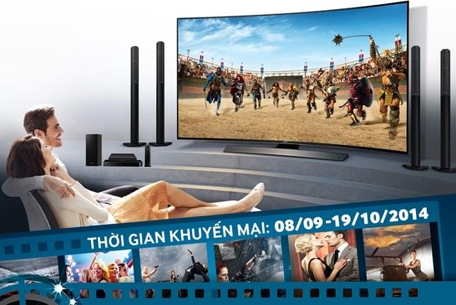 Noi dung giai tri chuan Ultra-HD tren TV UHD man hinh cong hinh anh