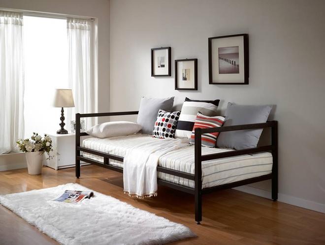 Thiet ke nha dep nhu phim Han voi Crescent Mall hinh anh 5 Thiết kế sofa dạng giường nằm hiện là trào lưu rất được yêu thích tại Hàn Quốc.
