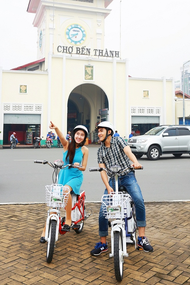 Su dung xe dap dien de tiet kiem chi tieu hinh anh 1 Người Sài Gòn chọn lựa giải pháp đi xe điện cho tiết kiệm.