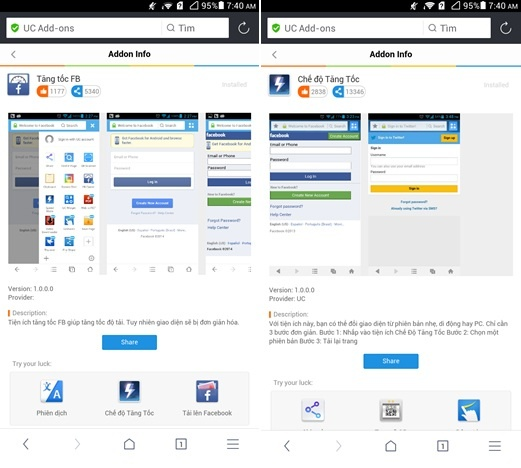 UC Browser 10.0 - trai nghiem duyet web moi tren Android hinh anh 2