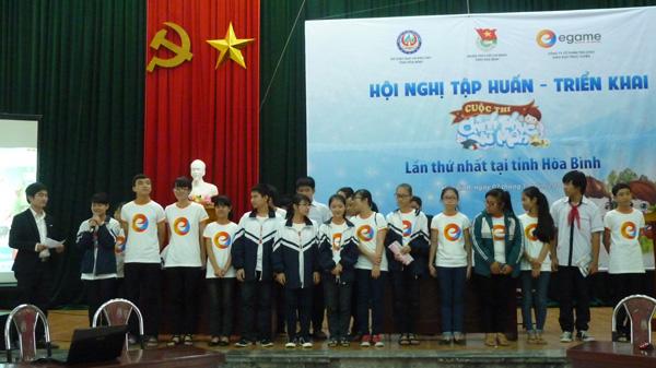 Mot ngay trai nghiem Chinh Phuc Vu Mon tai Hoa Binh hinh anh 1 Các đội chơi tham gia thi thử CPVM trong hội nghị.