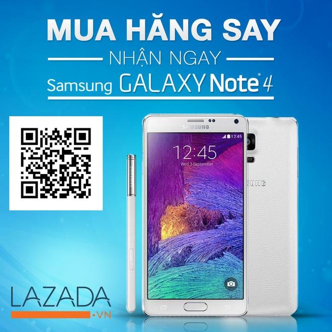 Gioi tre hao hung voi le hoi mua sam truc tuyen hinh anh 3 Cơ hội nhận ngay Samsung Galaxy Note 4 thật đơn giản.