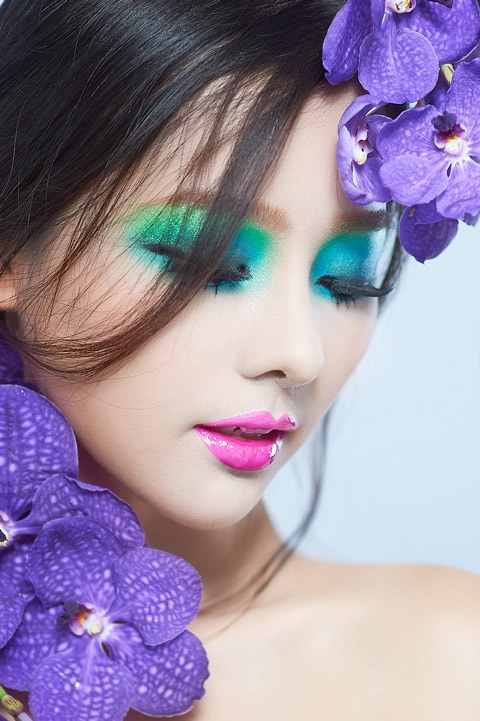 Dien vien - nguoi mau anh Khanh Hien duoc gioi tre yeu thich hinh anh 4 Khánh Hiền nhận lời mời trở thành người mẫu ảnh cho loạt ảnh truyền thông của chuyên gia trang điểm Khải Thiên