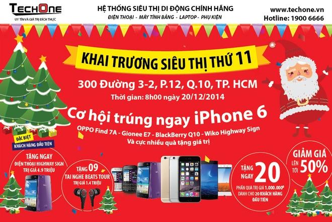 TechOne giam gia HTC 50% khuyen mai lon mung Giang sinh hinh anh 4