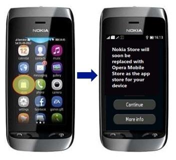 Nguoi dung duoc gi tu thuong vu hop tac Microsoft - Opera? hinh anh 2 Việc chuyển đổi từ Nokia Store sang Opera Mobile Store sẽ được thực hiện tự động.