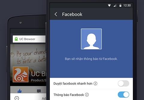 UC Browser ra mat tinh nang ho tro duyet Facebook hinh anh