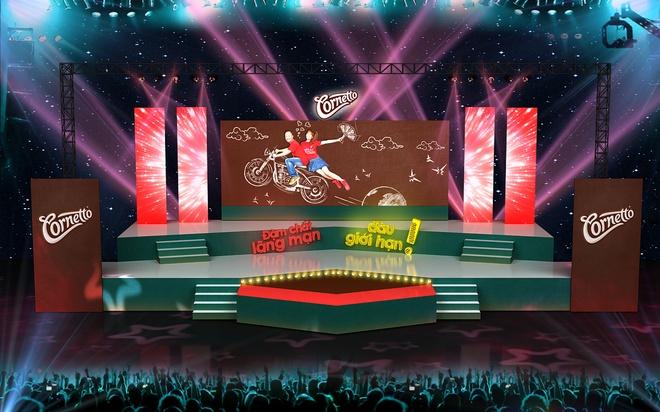 Sân khấu trẻ trung, hoành tráng của Đêm hội Cornetto Valentine 2015.