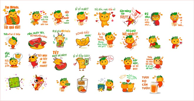 Bo Zalo sticker chuc Tet pha ky luc 1 trieu luot download hinh anh 1 30 sticker với nhiều lời chúc đậm chất teen gắn liền với hình ảnh đặc trưng của Tết đã phá kỷ lục download trên Zalo trong 7 ngày.