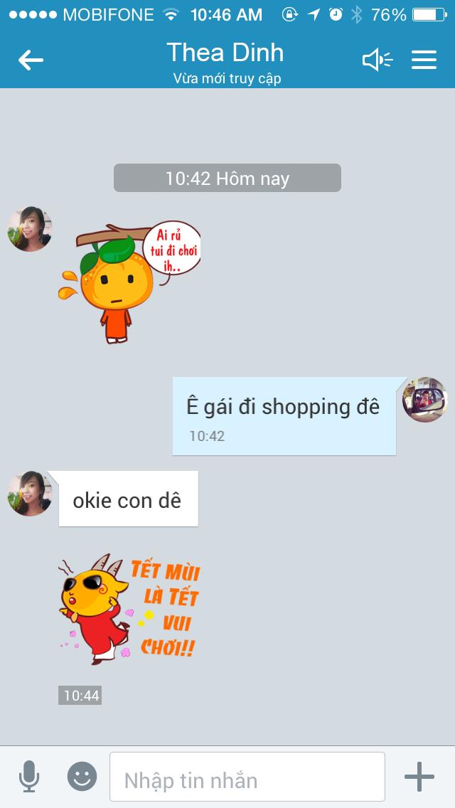 Bo Zalo sticker chuc Tet pha ky luc 1 trieu luot download hinh anh 2 Giới trẻ nhanh chóng tải về và sử dụng bộ sticker chúc Tết mới của Zalo.