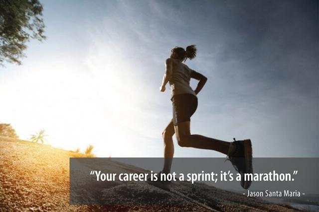 Chính sức bền của bản thân sẽ giúp bạn chạm đến vạch đích của con đường nghề nghiệp