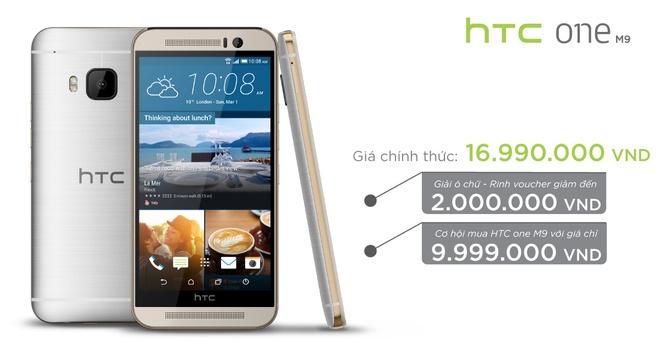 Mua HTC One M9 voi gia 16,99 trieu dong hinh anh