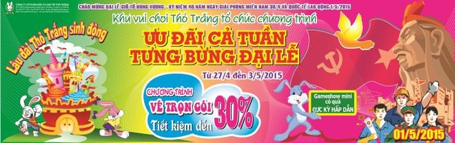 Khu vui choi Tho Trang mo cua mien phi dip 30/4 -1/5 hinh anh 1