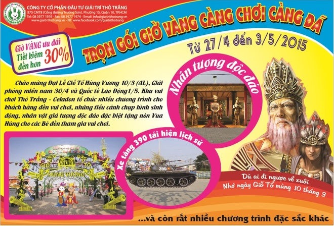 Khu vui choi Tho Trang mo cua mien phi dip 30/4 -1/5 hinh anh 2