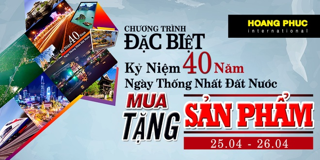 Hoang Phuc khuyen mai dip 40 nam ngay thong nhat dat nuoc hinh anh 1