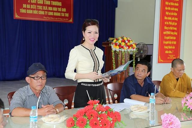 Hoa hau Quy ba Bui Thi Ha giup do nguoi dan tinh Bac Lieu hinh anh 3 Nữ giám đốc của tập đoàn bảo vệ Long Hoàng  chia sẻ: