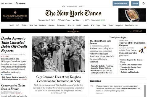 Suc manh cua SEO trong marketing noi dung so hinh anh 1 Chỉ trong 2 năm (2012 và 2013), tờ New York Times đã bị mất một nửa lượng truy cập trực tiếp vào trang chủ.