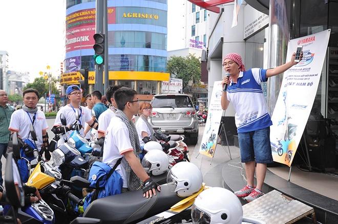 Khởi hành ngày 8/5 và kéo dài đến ngày 15/5, 8 tay phượt kinh nghiệm đến từ Hà Nội, Quảng Bình, Nam Định, Sơn La và Đồng Nai đã khởi hành từ Yamaha Town (Q.Phú Nhuận, TP.HCM) để có chuyến đi đáng nhớ.