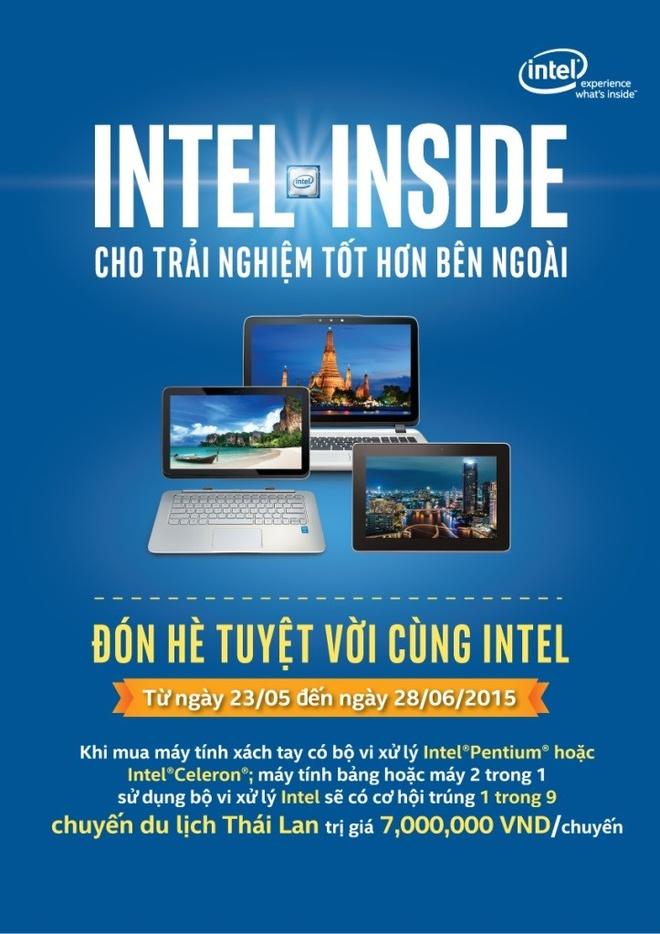 Khuyen mai lon chao he tu Intel va HP hinh anh 4 9 chuyến đi Thái Lan đang chờ đón các bạn trong khuyến mãi cực khủng từ Intel