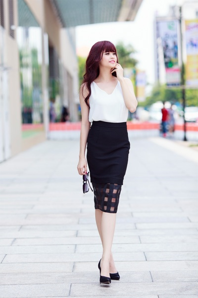 Street style thanh lich va goi cam cua Truong Quynh Anh hinh anh 4
