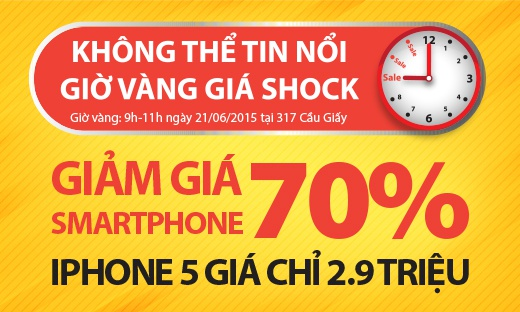 TechOne giam gia 70% cho smartphone trong gio vang hinh anh