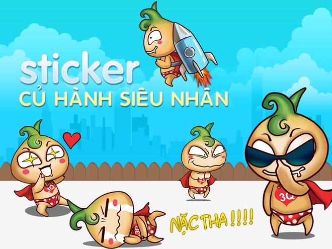 Sticker Cu Hanh Sieu Nhan co 6 trieu luot tai tren Zalo hinh anh