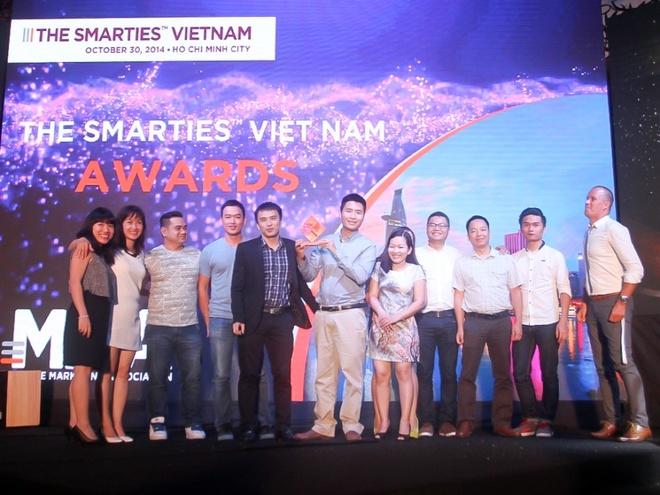 Adtima nhận giải thưởng The Smarties 2014 - giải thưởng danh giá quốc tế dành riêng cho lĩnh vực mobile marketing .