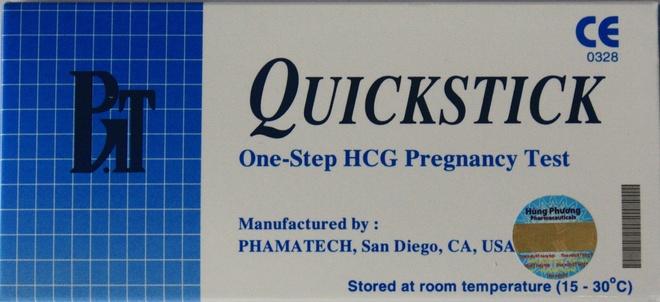 Luu y cho ban gai khi su dung que thu thai hinh anh 3 Quickstick là que thử thai nhanh đầu tiên ở Việt Nam có xuất xứ từ Mỹ.