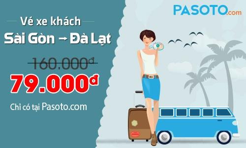 Pasoto.com ban ve xe di Da Lat gia 79.000 dong hinh anh