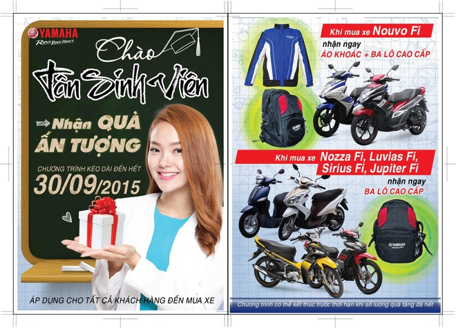 Yamaha Motor Viet Nam khuyen mai mung tan sinh vien hinh anh
