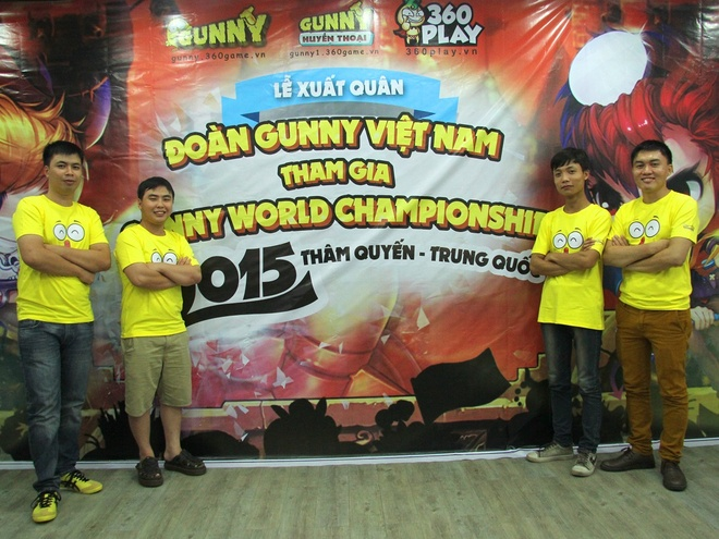Tuyen thu Viet san sang truoc giai dau 'Gunny the gioi 2015' hinh anh 2 4 tuyển thủ Gunny Việt trong màu áo Gunny 2015.