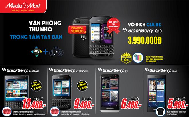MediaMart ban BlackBerry Q10 gia 3,99 trieu dong hinh anh