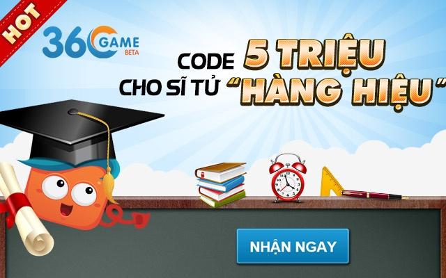 Cong 360Game tang code cho gan 10.000 si tu hinh anh 1 Gần 10.000 sĩ tử tham gia nhận code tại cổng 360Game