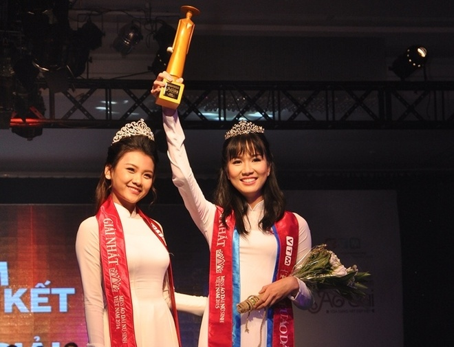 Nu sinh THPT chuyen Le Hong Phong duoc vinh danh Miss Ao dai hinh anh