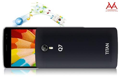 Titan Q7 Plus - smartphone gia re, cau hinh manh hinh anh