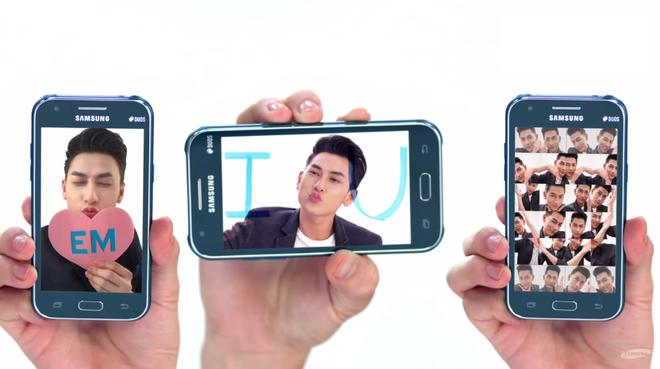 3 chiêu tỏ tình độc đáo bằng smartphone Samsung J1 của Isaac.