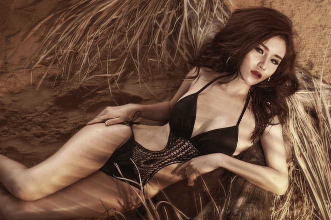 Nguoi mau Jery Trinh khoe dang voi bikini hinh anh