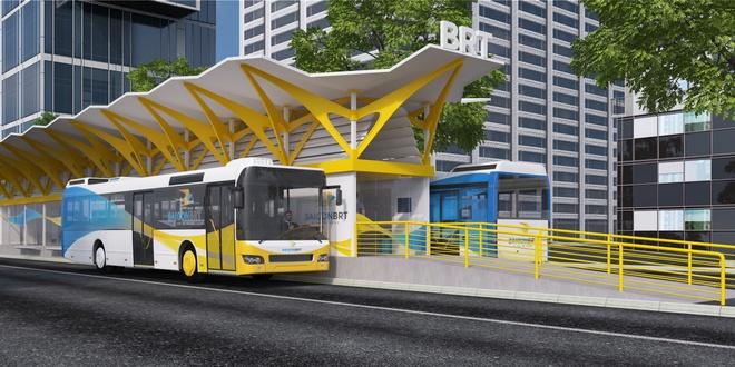TP HCM ra mat tuyen xe buyt nhanh Saigon BRT hinh anh