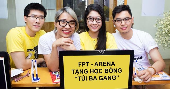 FPT Arena tang sinh vien nam nhat hoc bong Tui ba gang hinh anh