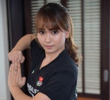 Hotgirl wushu Mai Phuong tu hao vi tro thanh huan luyen vien hinh anh