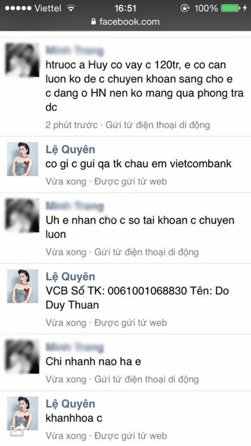 Le Quyen dau dau vi bi hacker chiem doat Facebook hinh anh 2