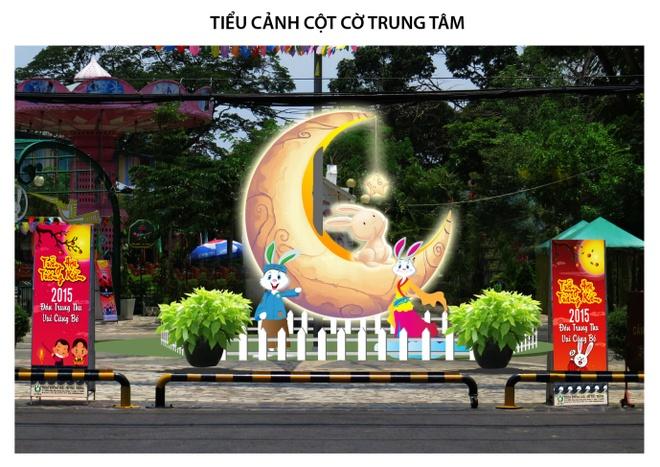 Khu vui choi Tho Trang - diem den thu vi tet trung thu hinh anh 2 Tiểu cảnh Thỏ Ngọc Ngũ Cung Trăng tại Thỏ Trắng Lê Thị Riêng.