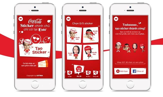 Vi sao sticker cua Coca-Cola lien tuc pha ky luc tren Zalo? hinh anh