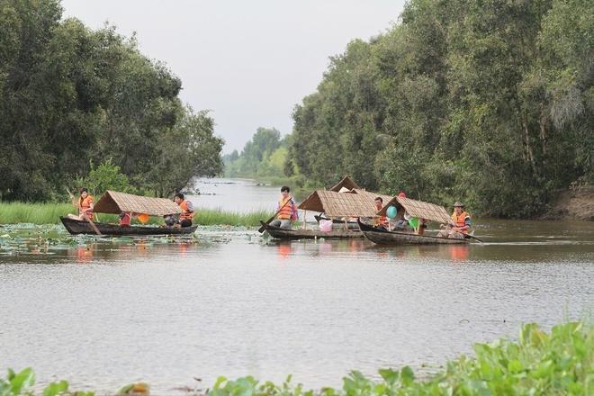 Vuon quoc gia Tram Chim dang hoi sinh an tuong hinh anh 4    Người dân tham gia chèo xuồng phục vụ du khách đến tham quan Tràm Chim. Tính đến hết năm 2014, đã có hơn 60.000 lượt khách đến đây, tăng gấp 4 lần so với năm trước.