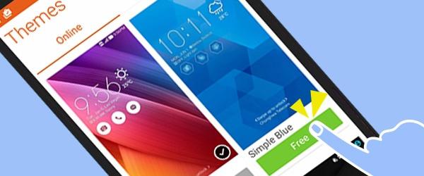 10 meo huu ich khi su dung giao dien ZenUI hinh anh 2 Thay đổi màu sắc giao diện theo cảm xúc: Asus Launcher giúp người dùng chuyển đổi màu sắc màn hình chính theo tâm trạng, bằng cách vuốt nhẹ màn hình trang chủ lên phía trên và nhấn nút Themes để chọn lựa.