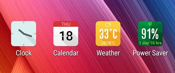 10 meo huu ich khi su dung giao dien ZenUI hinh anh 8 Thao tác nhanh với biểu tượng ứng dụng hoạt họa trực quan cho phép bạn tra cứu thông tin mà không cần phải truy cập ứng dụng. Những ứng dụng như đồng hồ (cài đặt bằng cách vào Clock, đến Setting và chọn Animated app icon), thời tiết, lịch hay power saver hiển thị được theo thời gian thực, nên thông tin về giờ giấc, thời tiết, ngày tháng và mức độ pin luôn cập nhật chính xác và liên tục trên icon.