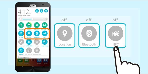 8 bi quyet tang thoi luong pin ZenFone 2 hinh anh 7 Tắt dịch vụ địa điểm, kết nối Bluetooth và NFC: Người dùng smartphone không nên quá phụ thuộc các dịch vụ kết nối hay tìm kiếm vị trí, chỉ nên sử dụng khi cần thiết. Bởi lẽ bật GPS, Bluetooth và NFC khiến điện thoại hao hụt nhiều năng lượng.