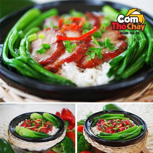 Thuong thuc com tho, nhan uu dai lon tai TP HCM hinh anh 1 Cơm thố cháy thơm ngon cuốn hút thực khách.