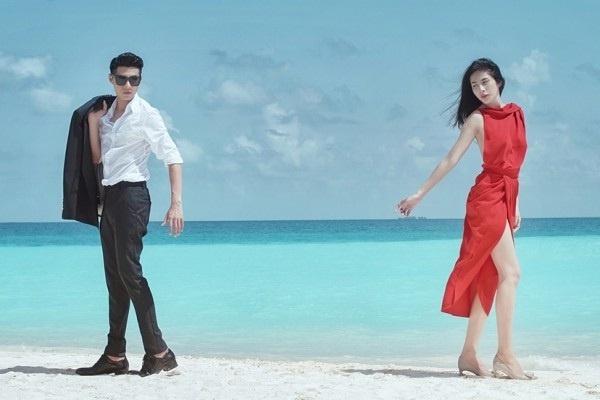 Noo Phuoc Thinh: 'Moi quan he voi Thuy Tien khong ran nut' hinh anh 1 Phim ngắn Chuyện tình Maldives của Noo Phước Thịnh và Thủy Tiên được fan đón nhận nhiệt tình.